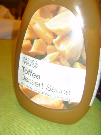 The toffee sauce... even on plain cornflakes its amazing!