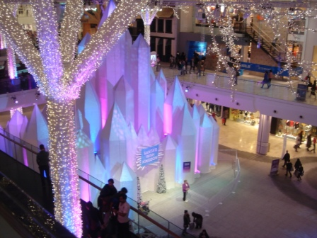An ice Castle... i guess santa was inside for pix...
