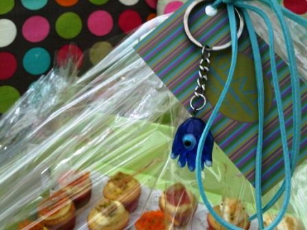 The Tray had a lovely ribbon and a medal of blue eye on it... very useful indeed :D