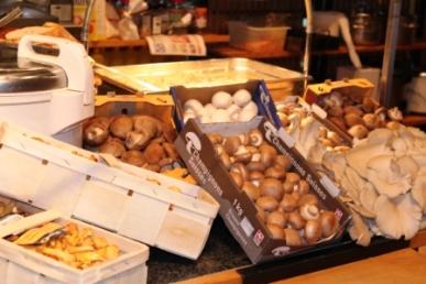 Mushrooms for the mushroom sauce...